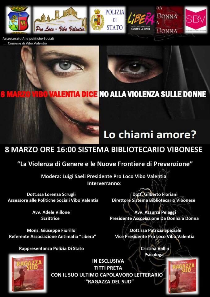 """Titti Preta_Vibo Valentia l'8 marzo dice """"No"""" alla violenza sulle donne"""