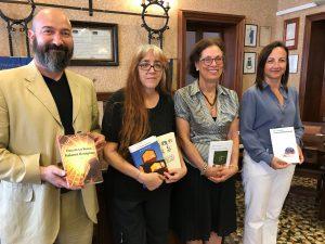 Ferdinando Minello, assessore alla cultura di Mogliano Veneto, Laura Pariani e Cristina Benussi, giurate, Giulia Russo Sindaco di Ricadi