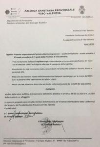 Vibonese, il Dipartimento Prevenzione propone la chiusura di tutte le scuole